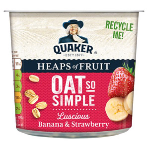 Quaker Oat So Simple Heaps of Fruit Banana & Strawberry Pot