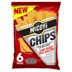 McCoys Chips Chip Shop Sea Salted 6 Pack