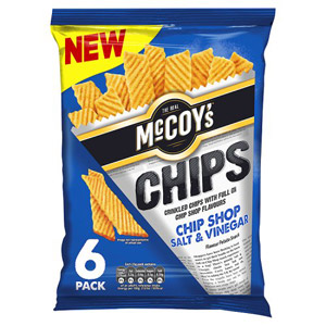 McCoys Chips Chip Shop Salt & Vinegar 6 Pack