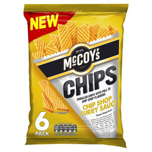 McCoys Chips Chip Shop Curry Sauce 6 Pack