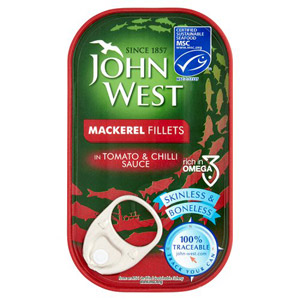 John West Mackerel Fillets in Tomato & Chilli Sauce