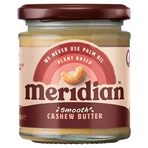 Meridian Smooth Cashew butter 100% Nuts