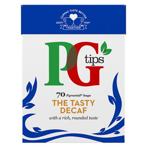 PG Tips Pyramid The Tasty Decaf Tea Bags 70s