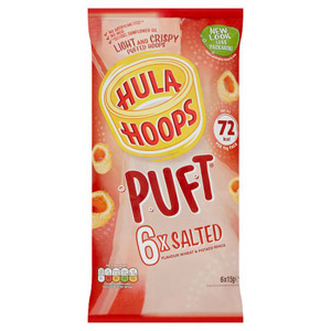 Hula Hoops Puft Salted 6 Pack