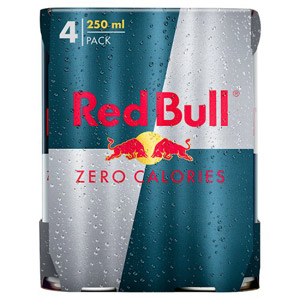Red Bull Zero Calories 4 Pack