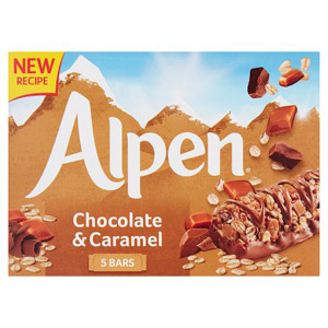 Alpen Caramel & Chocolate Bars 5 Pack