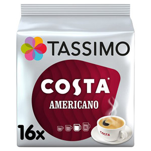 Tassimo Costa Americano Coffee Pods 16 Pack