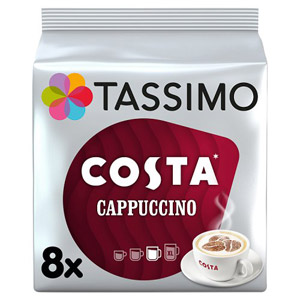 Tassimo Costa Cappuccino Coffee Pods 8 Serving